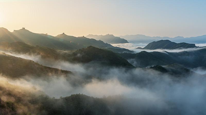 云景,砖,世界遗产,云,色彩鲜艳,户外,建筑,山脉,远古的