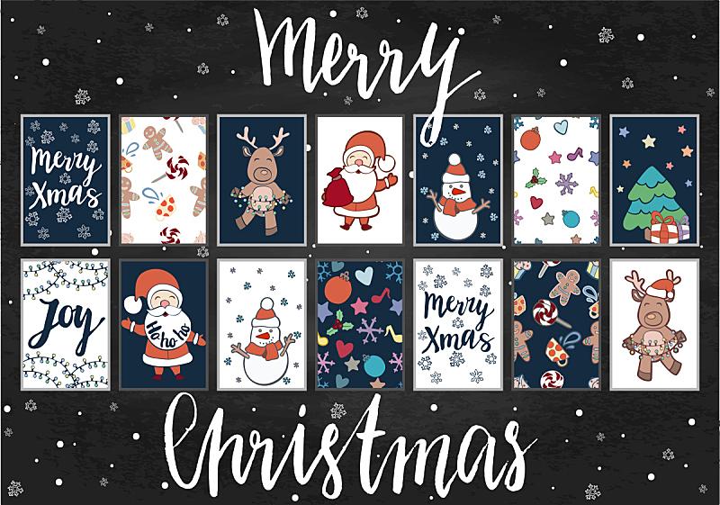 证章,新年前夕,球,绘画插图,贺卡,圣诞帽,边框,水平画幅,星星