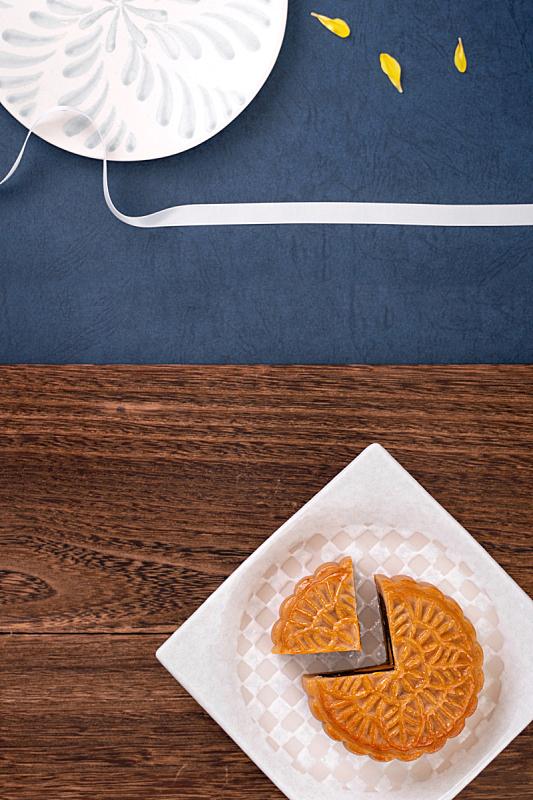 月亮,木制,月饼,中秋节,创造力,油酥面包,茶,桌子,享乐,设计