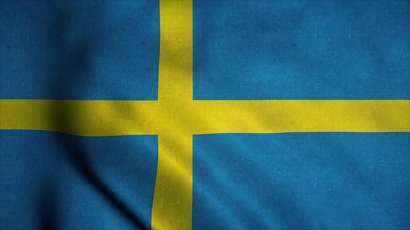 瑞典,风,绘画插图,圆形,三维图形,爱国主义,瑞典国旗,挥手