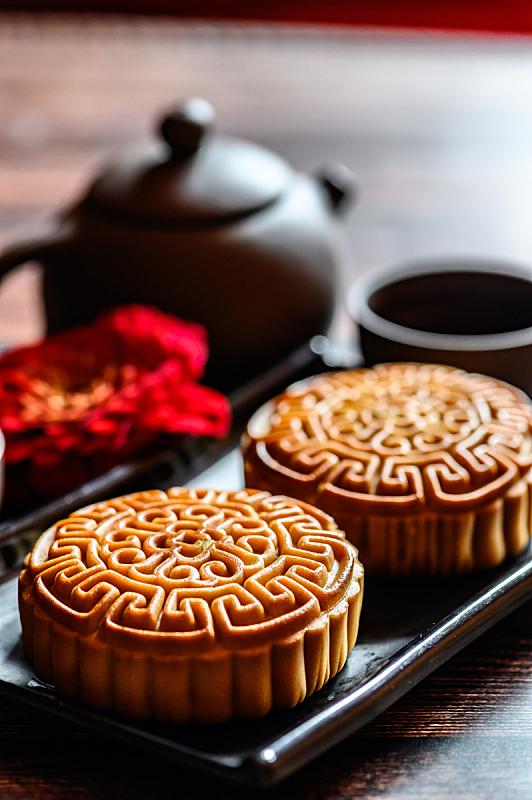 中秋节,传统,秋天,垂直画幅,饮食,图像,茶杯,小吃,月饼,盘子