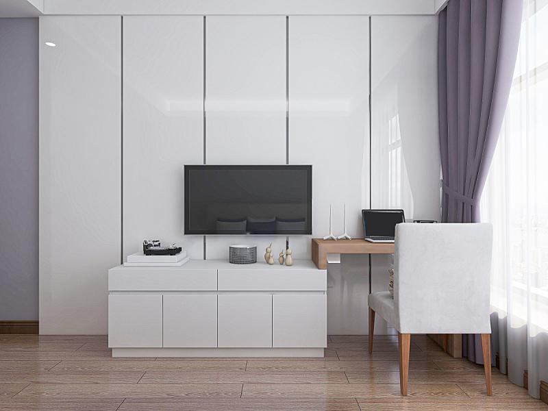 床,公寓,现代,卧室,宽的,绿色,梳妆台,巨大的,外套大衣,设计