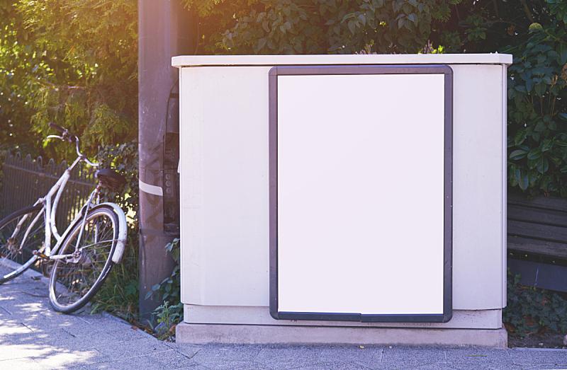 空的,户外,布告栏,空白的,都市风光,白色,太空,计划书,设计