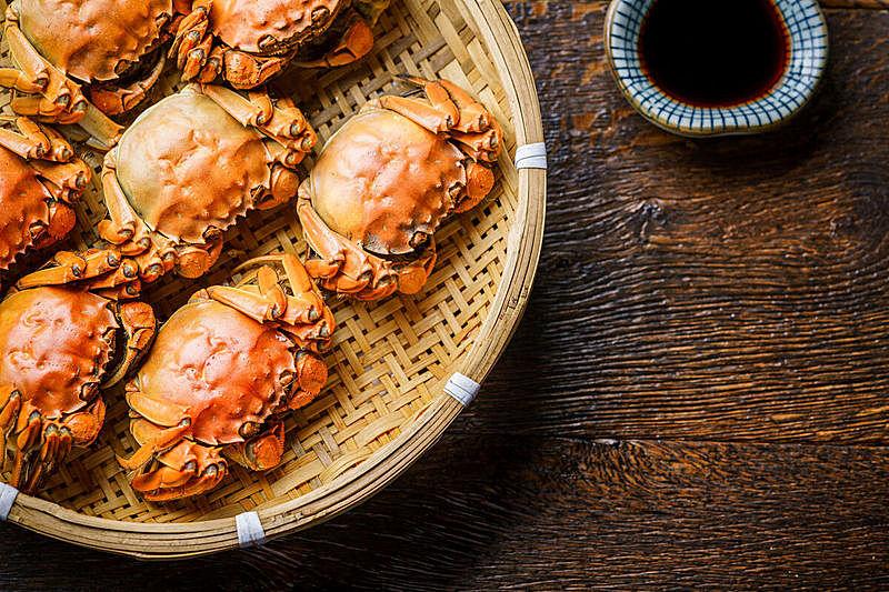 螃蟹,木制,桌子,阿拉斯加雪蟹,事件,部分,螯虾,华贵,蒸菜,动物