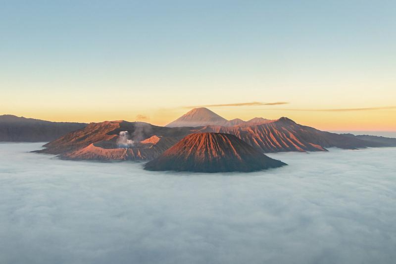 印度尼西亚,东,著名景点,旅行者,爪哇,滕格尔火山,婆罗摩火山,活火山,部分,平衡折角灯