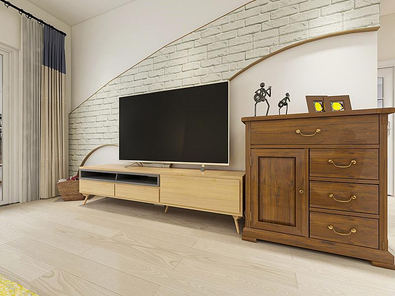 起居室,沙发,现代,电视机,建筑物门,鞋子,三维图形,整齐的,设计,休闲