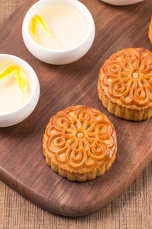 传统,食品,月饼,茶,中秋节,蛋糕,蛋黄,茶杯,传统节日,甜食