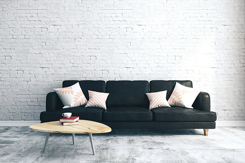 现代,起居室,砖