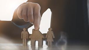 家庭,保险,房屋,概念,女儿,商务,安全,父母,母亲,泰国