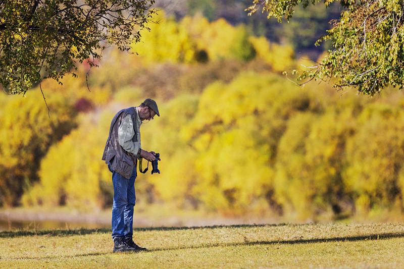 摄影师,自然,相机,支票,客户服务代表,探险家,户外,业余爱好,拍摄场景,秋天