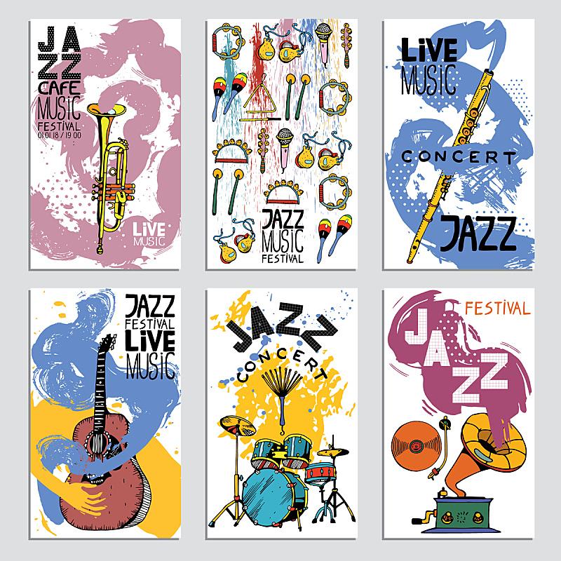 绘画插图,乐器,纹理,爵士音乐节,墨水,与众不同,动物手,艺术,爵士乐