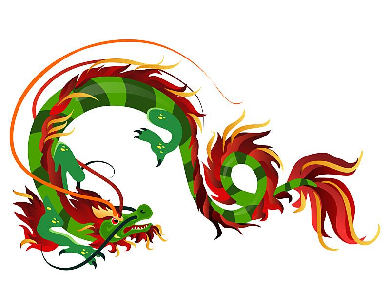 神话,远古的,传统,想法,绘画插图,矢量,中国,动物,式样,图标