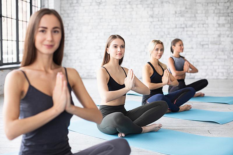 瑜伽,健身房,现代,阁楼,动作