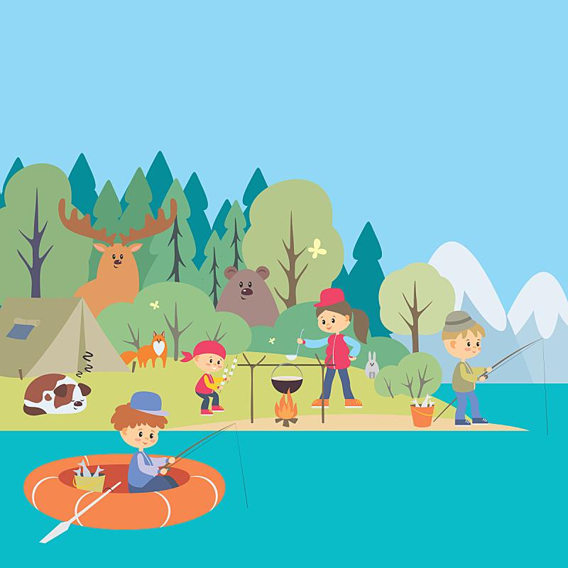 背景,树林,地形,生活方式,狗,女人,船,动物,海岸线,狐狸