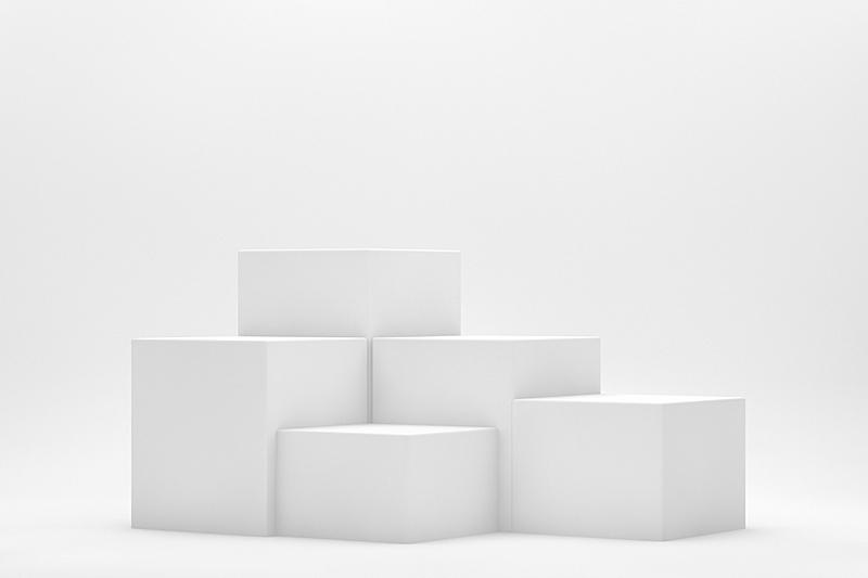 空的,三维图形,白色,白色背景,商品,车站月台,指挥台,商务,几何形状,技术
