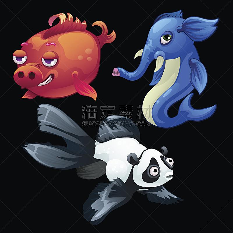 熊猫,转基因,象,猪,动物,鱼类,基因突变,生态多样性,生物学,深的