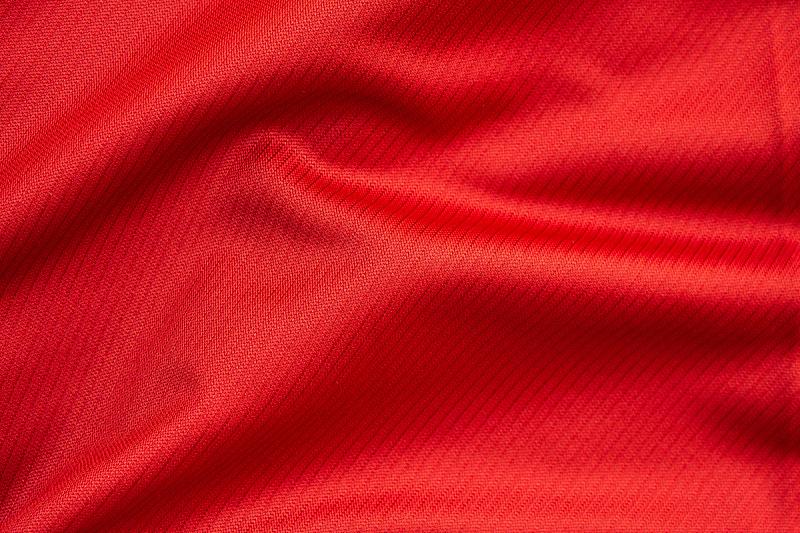 纺织品,纹理,红色,运动服,特写,毛衣,橄榄球,洞,平视角,空的