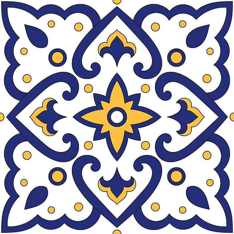 浴室,葡萄牙,砖地,镶嵌图案,矢量,纹理,式样,蓝色,瓷砖,马略尔卡陶器