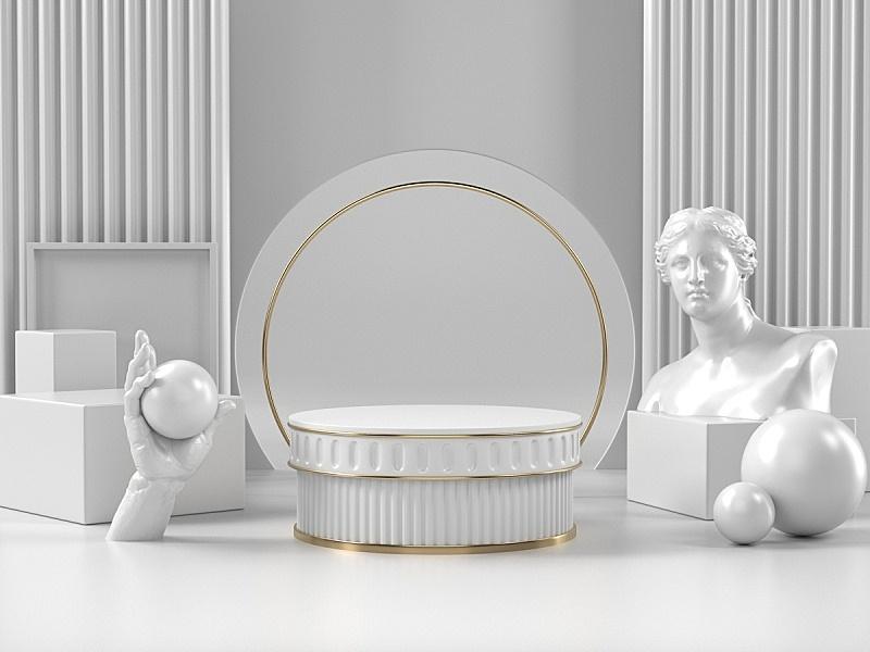 图像,罗马风格,美,品牌名称,指挥台,三维图形,化妆用品,白色,罗马,圆柱体