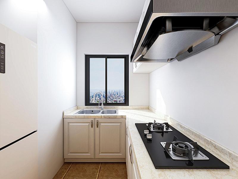 三维图形,现代,厨房,烹调用具,拉凡他那石拱,日光,柜子,家庭,设计