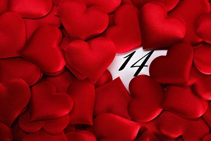 情人节,日历,可爱的,事件,贺卡,月,浪漫,信函,二月,背景