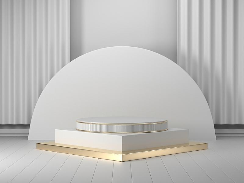图像,背景,三维图形,指挥台,白色,几何形状,圆柱体,底座,模板