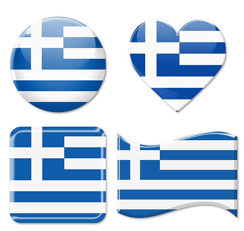 希腊,图标集,水平画幅,形状,无人,绘画插图,符号,玻璃,标签,金属