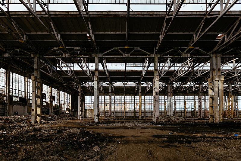 工业,被抛弃的,走廊,工厂,巨大的,沃罗涅什,垃圾