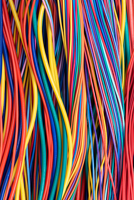 电缆,多色的,波兰,电源,电力线,设备用品,背景,电,工业机械,小家电