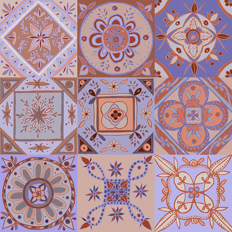 背景,方形画幅,装饰品,砖地,传统,几何形状,突尼斯,纺织品,复古风格,人种