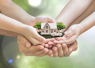 家庭,贷款,做计划,私人财产标志,概念,传统,住宅内部,汽车保险,支撑,保护