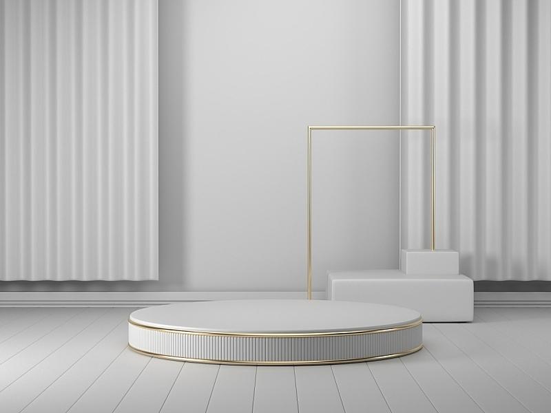 图像,背景,三维图形,白色,指挥台,几何形状,圆柱体,底座,模板