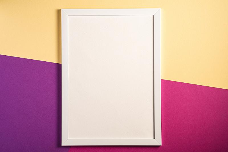 贺卡,空的,白色,粉色,紫色,模板,相框,米色,彩色背景