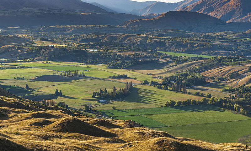 自然,新西兰南岛,皇后镇,地形,风景,城镇,箭头符号,旅途,云,黄昏