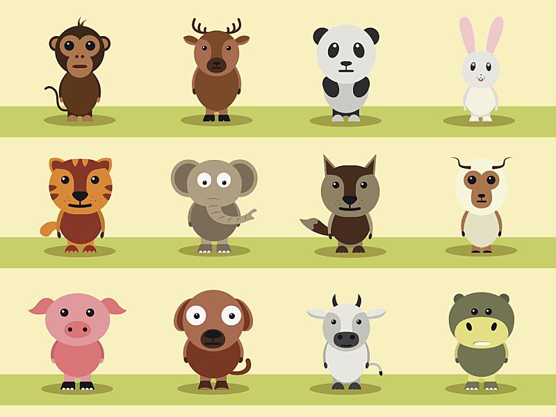 动物,卡通,农业,玩具,肖像,猿,狗,哺乳纲,猪,狐狸