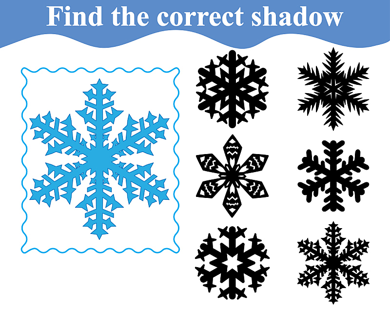 绘画插图,阴影,雪花,矢量,休闲活动,水平画幅,形状,进行中,核对时间