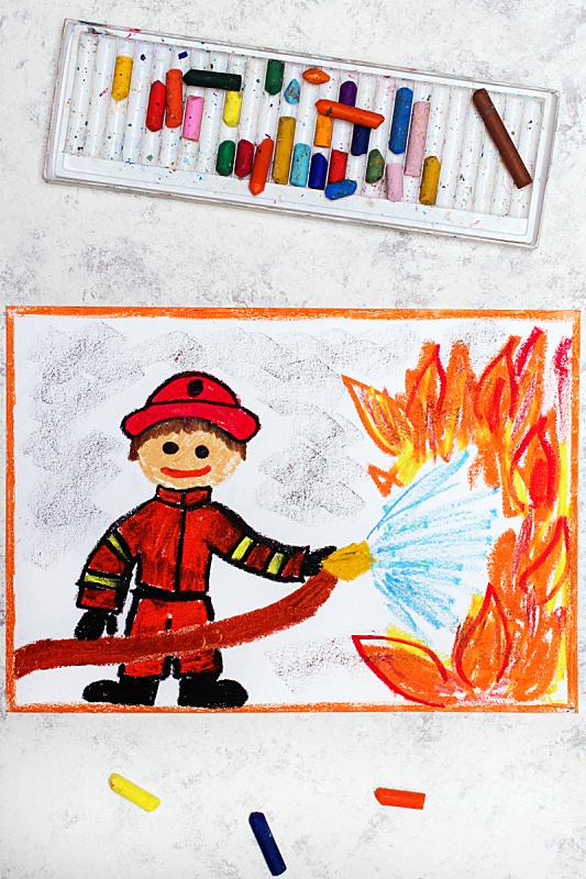 消防员,水,动作,色彩鲜艳,以火攻火,波兰,一个人,仅儿童,设备用品,救护服务职位