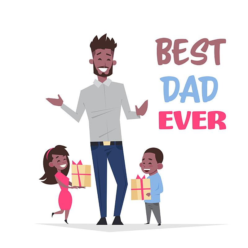 幸福,女儿,概念,礼物,儿子,平坦的,家庭,父亲,白昼,度假