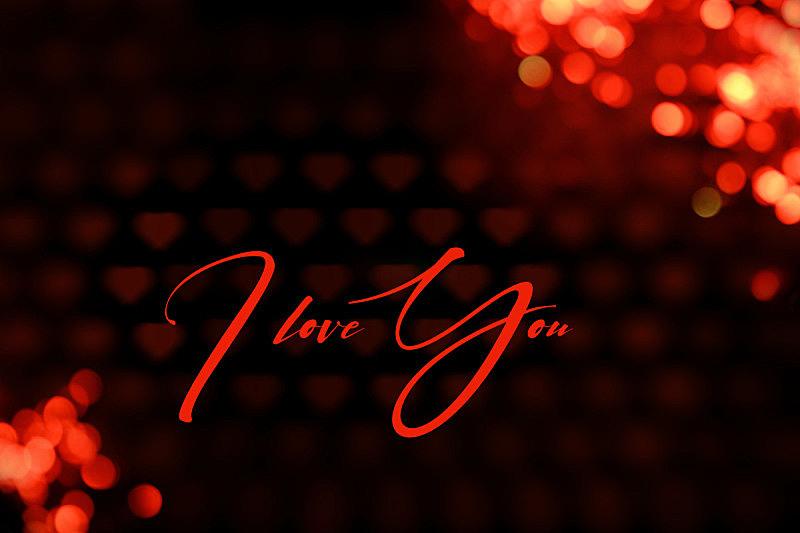 雕刻图像,情人节,在上面,背景虚化,红色背景,我爱你,巨大的,幸福,比例,贺卡