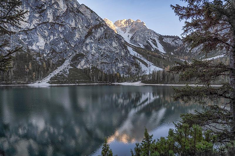 湖,意大利,非都市风光,上阿迪杰,旅途,野生动物,环境,云,自然美,小路