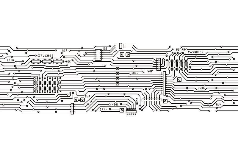 绘画插图,电路板,图像,电缆,半导体,水平画幅,无人,金属,电脑芯片,电