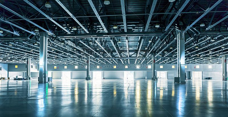 仓库,空的,极简构图