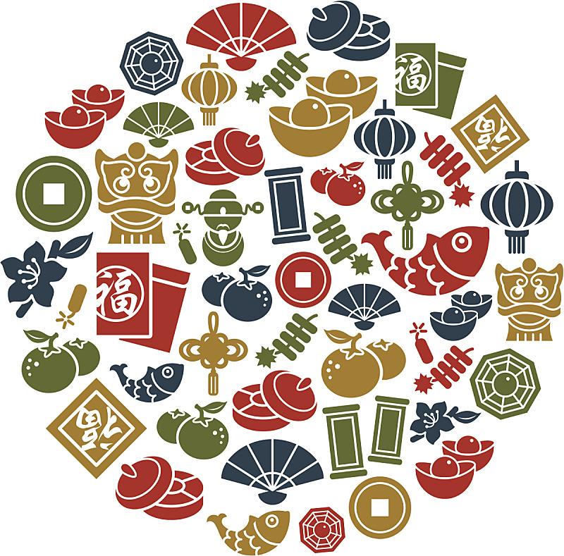 春节,计算机图标,烟灰墨,红包,津贴,鲤鱼,灯笼,部分,铸锭,狮子
