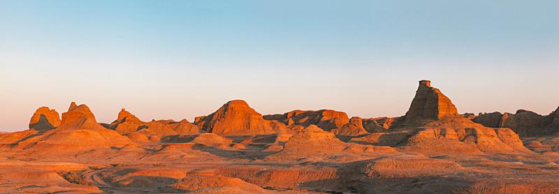 中国,雅丹,全景,环境保护,著名景点,自然荒野区,岩石,户外,天空,泥土