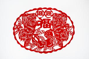 运气,传统,春节,艺术,汉字,标志,狗年