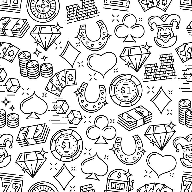 四方连续纹样,轮盘赌,赌场,游戏,投币式,风险,贺卡,休闲游戏,骰子,数字7