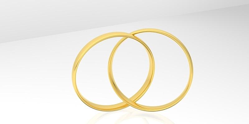 三维图形,戒指,分离着色,结婚戒指,数字动画,白色背景,蜜月,传统,周年纪念,两个物体