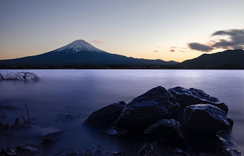 简单,富士山,雪山,雪,著名景点,自然美,湖,户外,天空,晴朗