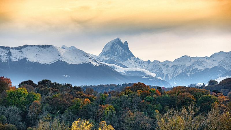法国,风景,宝丽丝山脉,迷迪,野餐,秋天,欧洲,自然,全景,图像
