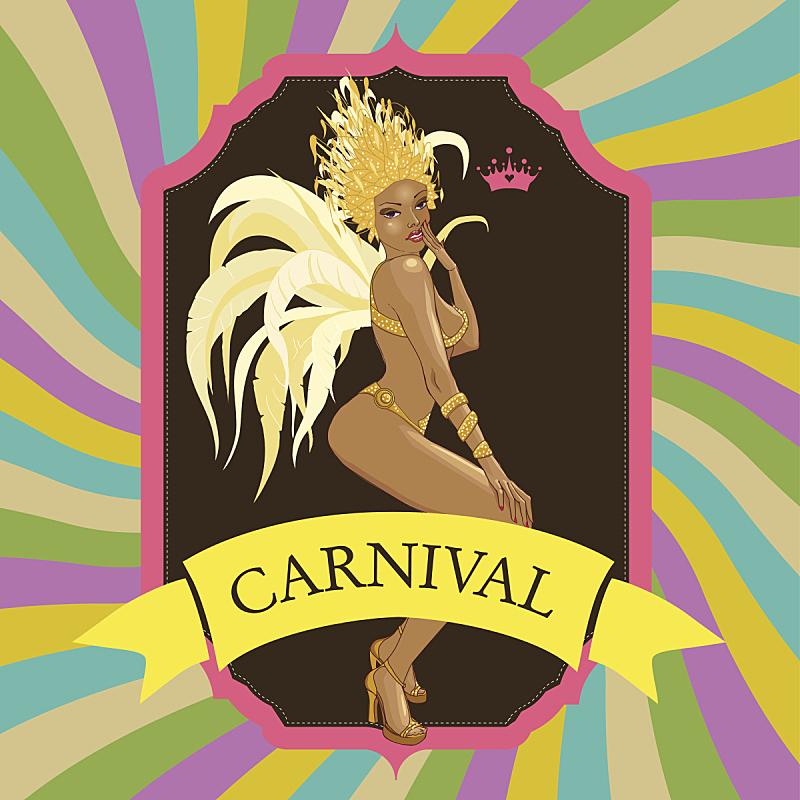 请柬,自然美,式样,桑巴舞,巴西狂欢节,华丽的,狂欢节,女人,舞蹈,背景